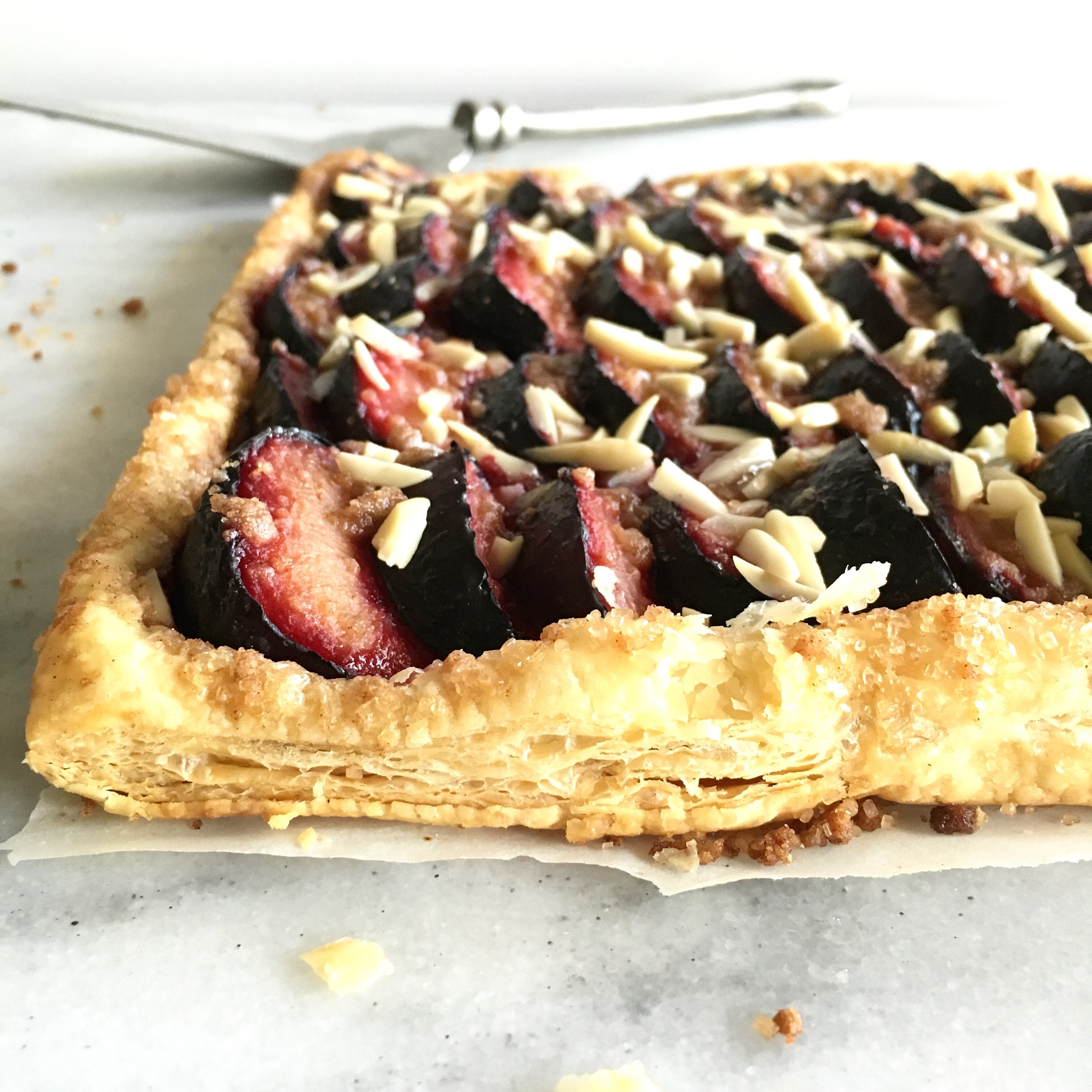 Almond Plum Tart, profile